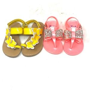 Lot of 2 Infant Sandals